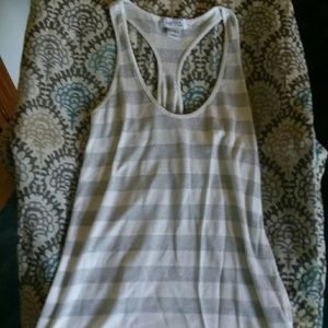 Silver glitter and white racer back tank